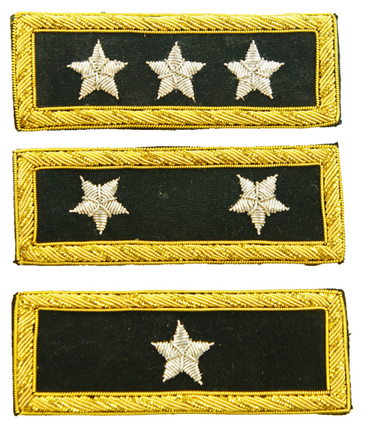 Blue Star Blade Reviews >> Insignia - US General Shoulder Boards