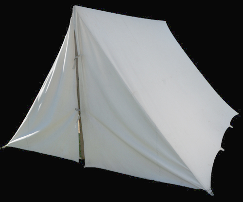 sale retailer 1686b 9a671 Civil War Canvas Tents & Flys: A Frame, Wall, Officer ...
